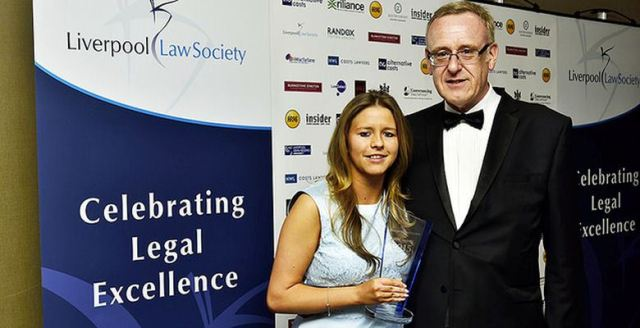 me at Liverpool Law Scociety awards